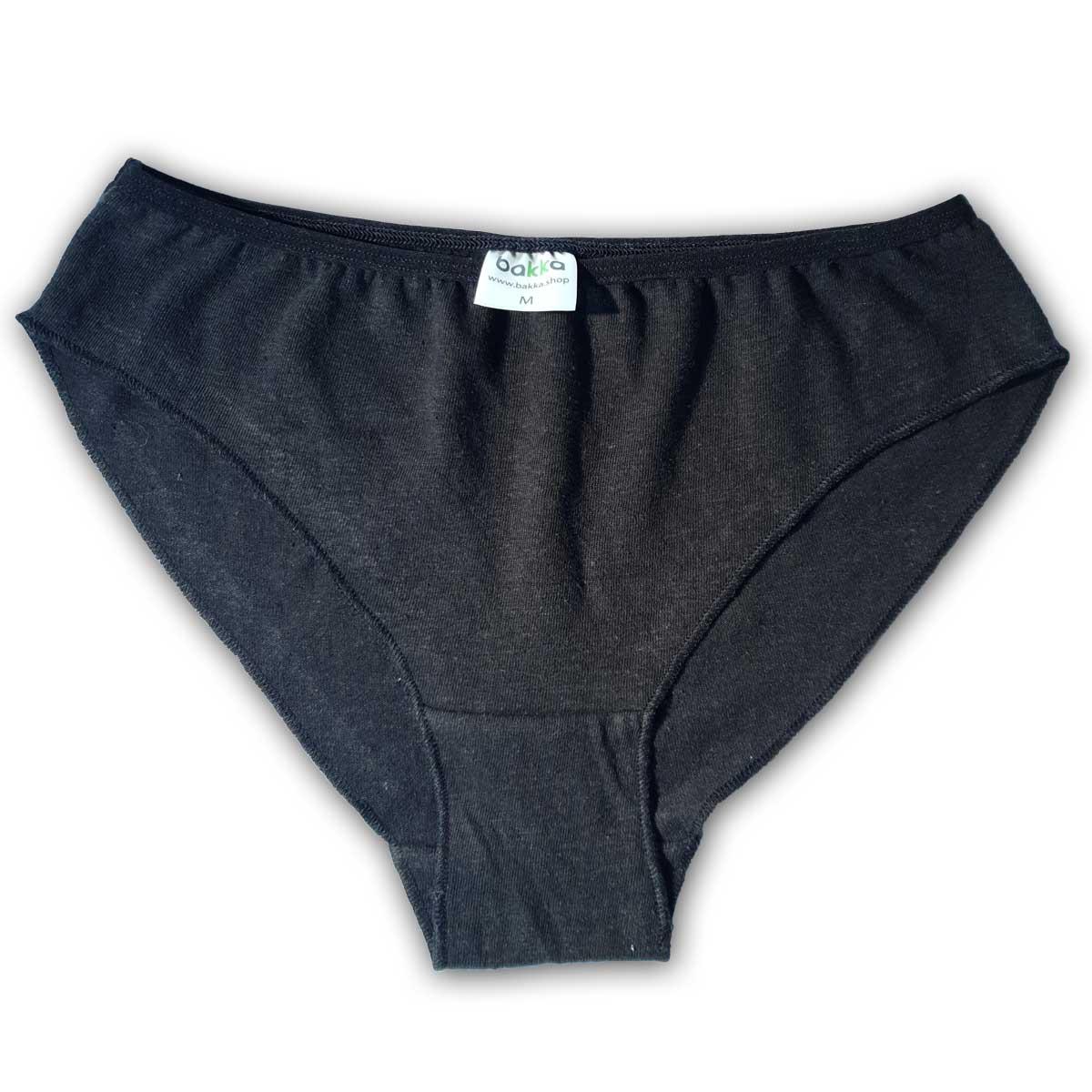Черни бикини от коноп и органичен памук-2
