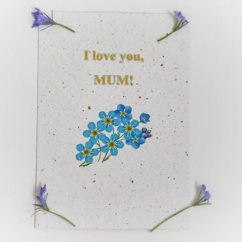 Картичка за засаждане Честит празник, Мила Мамо (със семена от незабравка)-4