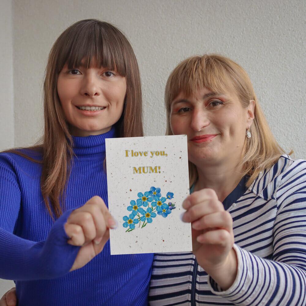 Картичка за засаждане Честит празник, Мила Мамо (със семена от незабравка)-5
