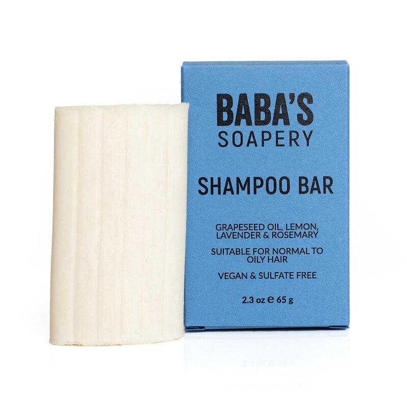 Натурален твърд шампоан за мазна коса 65g